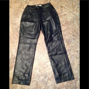 eXcelled black leather pants